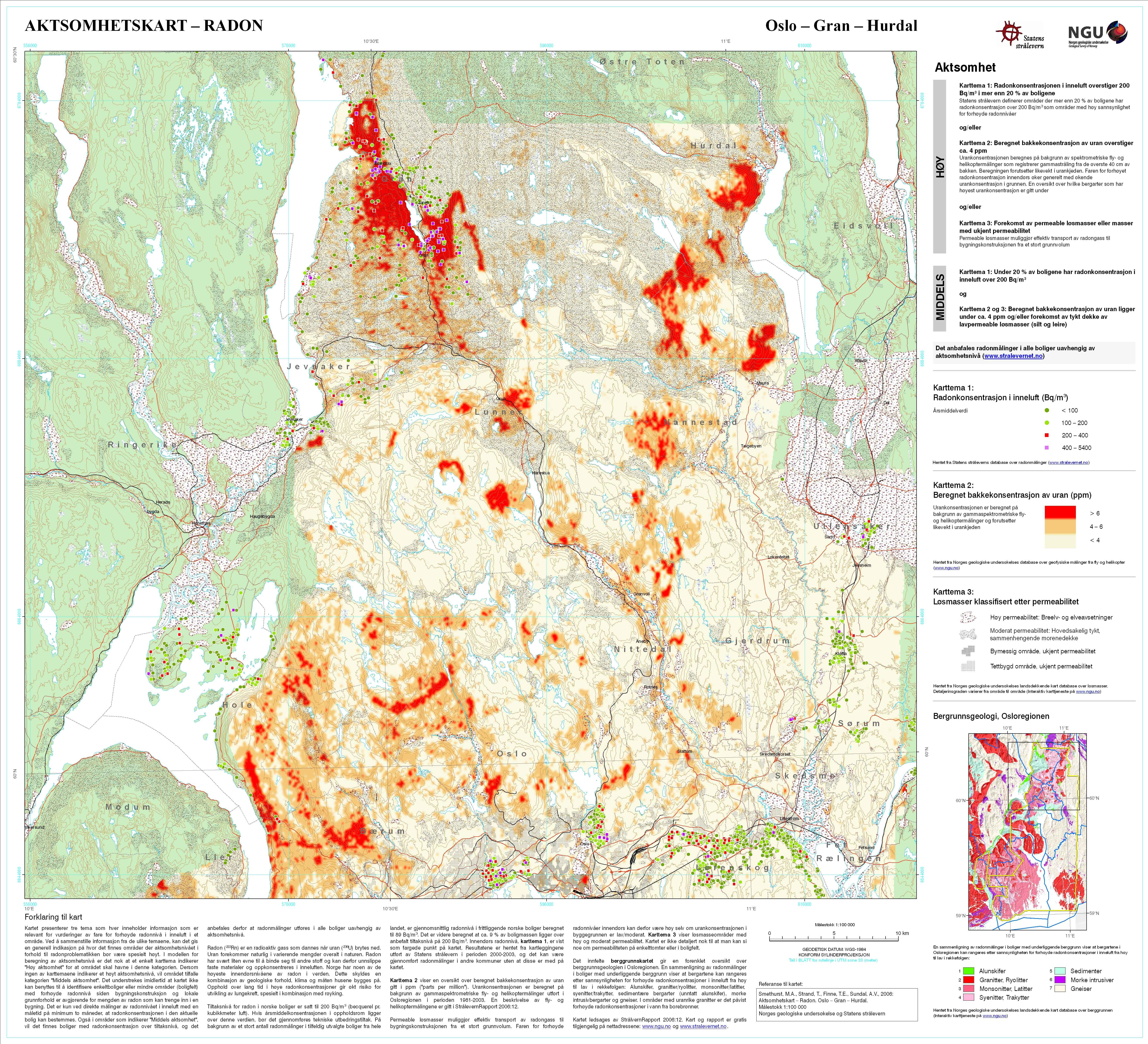 radon kart bergen Ny oversikt over radonutsatte områder radon kart bergen