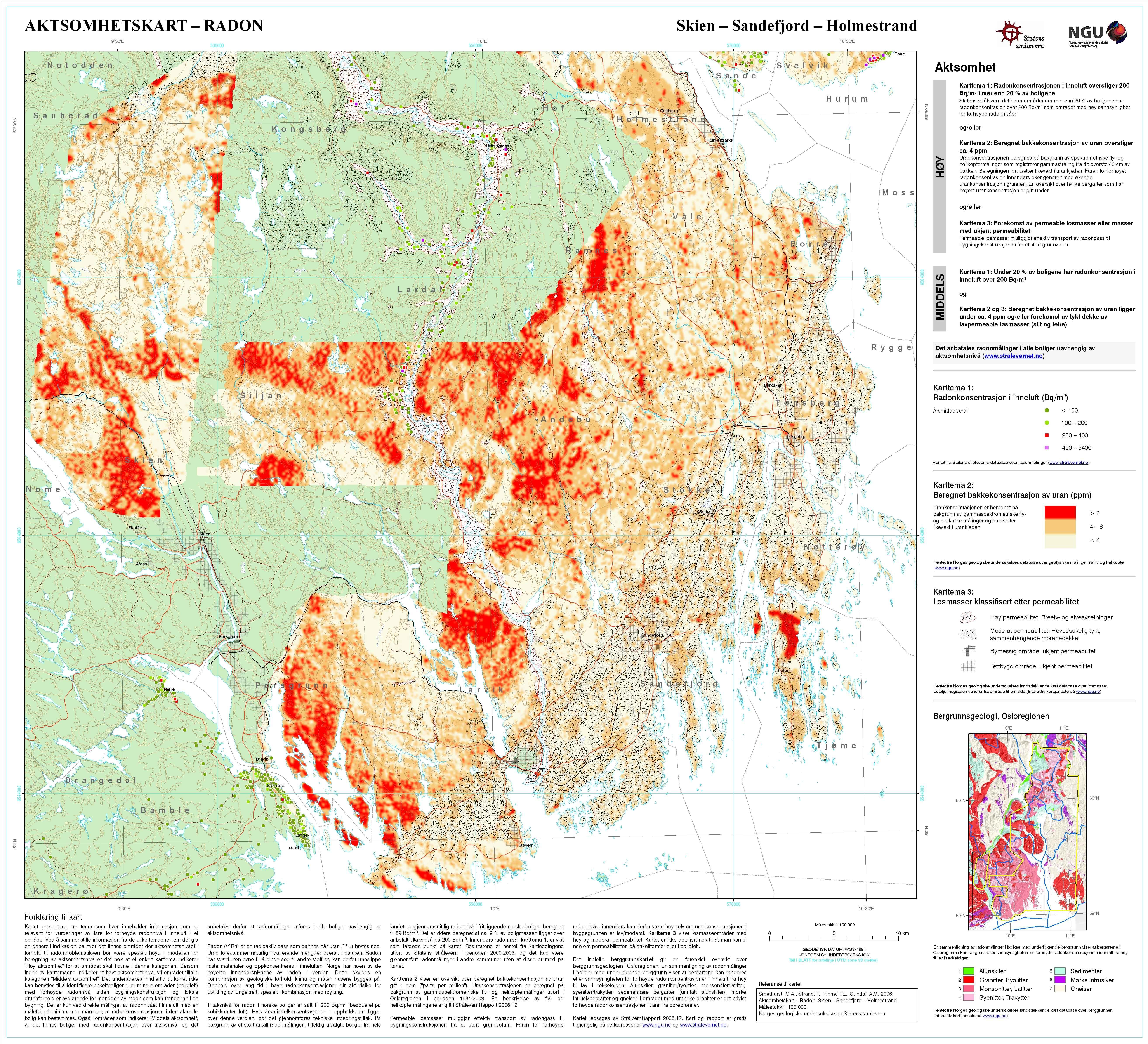radon kart oslo Ny oversikt over radonutsatte områder radon kart oslo