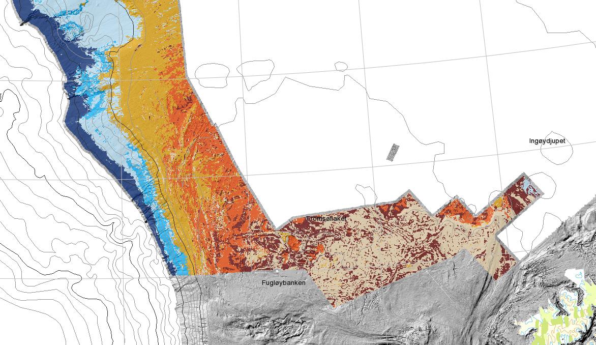 tromsøflaket kart Nytt biotopkart for Tromsøflaket Eggakanten | Norges Geologiske  tromsøflaket kart