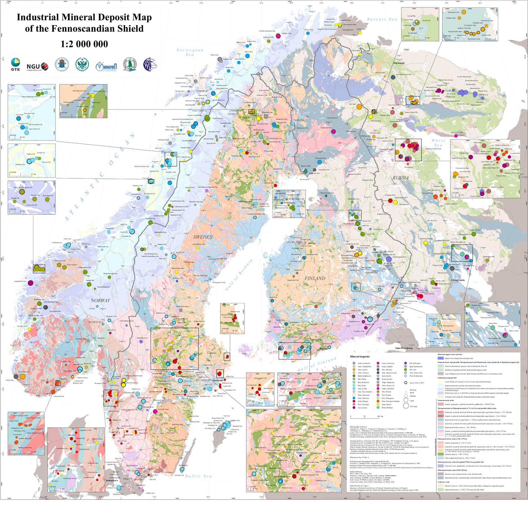 norge kart målestokk Industrimineral samla på eitt kart | Norges geologiske undersøkelse norge kart målestokk
