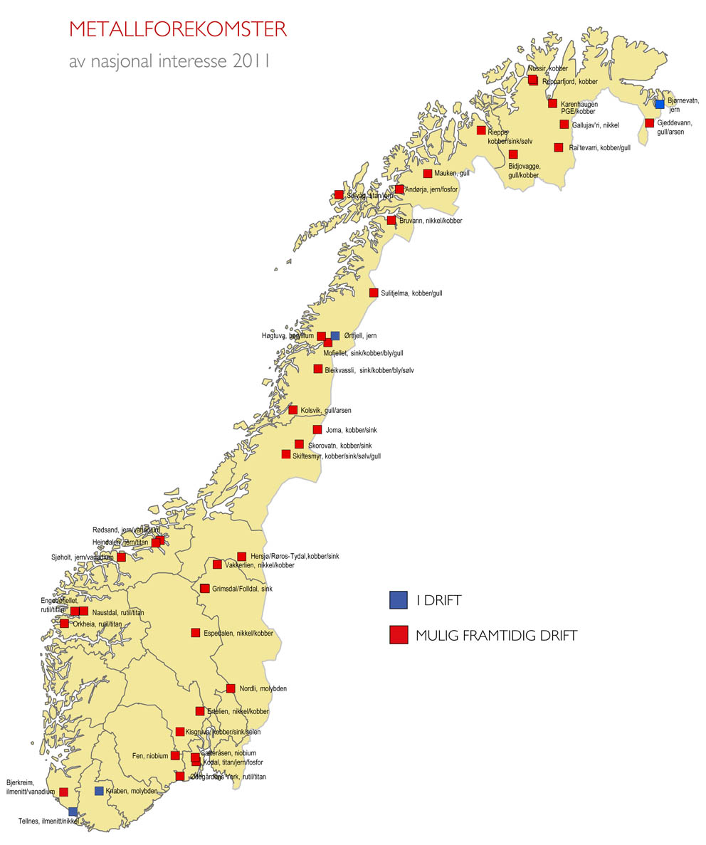 Metallforekomster Verdt 1388 Milliarder Kroner Norges Geologiske