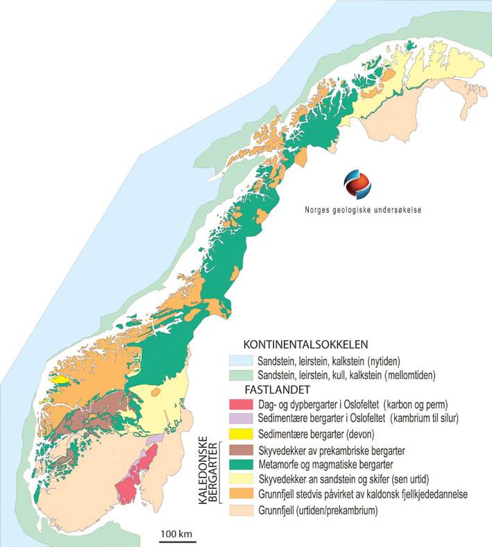kart over radon i norge Berggrunn | Norges geologiske undersøkelse kart over radon i norge